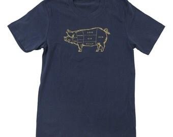 Pork Butcher Chart Cotton Tee