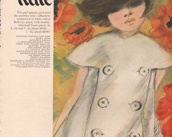 Original fashion photo/illustrations, Vogue or Harpers Bazaar, 9x12 in - fash631