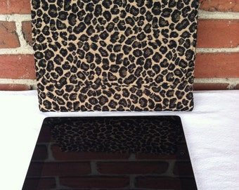 iPad/Tablet Case in Leopard Chenille