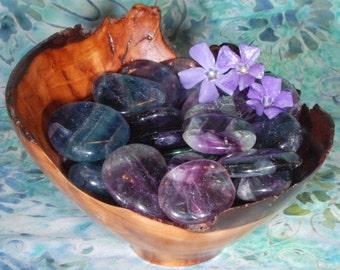 1 RAINBOW FLUORITE Tumbled Stone - Fluorite Crystal, Tumbled Fluorite, Fluorite Gemstone, Fluorite Tumblestone, Fluorite Healing