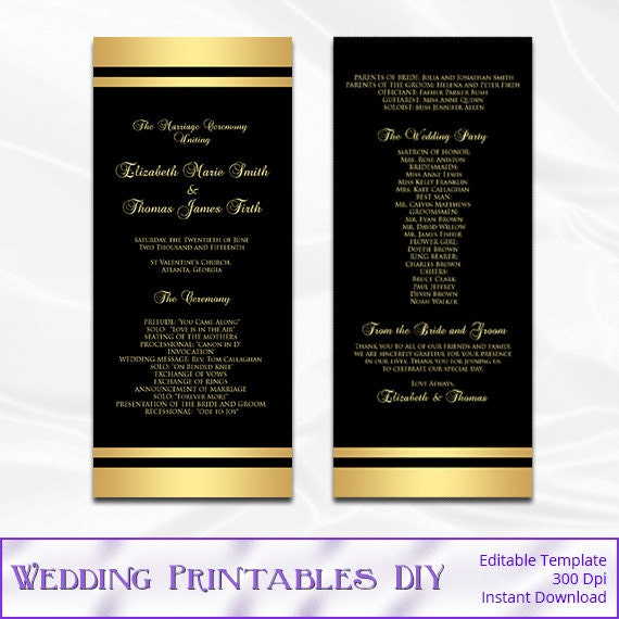 Black And Gold Wedding Program Template Diy Gold Foil Striped. Wedding Registry For Bridal Shower. Wedding Dress Designers Kilkenny. Wedding Reception Venues Xenia Ohio. Grandparents Wedding Advice Youtube. Wedding Management Websites India. Destination Wedding Planner Ireland. Wedding Etiquette Thank You Notes. Cheap Wedding Invitations And Envelopes