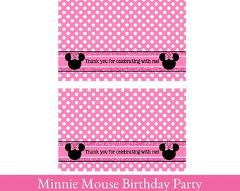 Minnie Mouse Loot Bag Toppers, Minnie Mouse treat bag topper, Minnie Mouse Bag Topper, Minnie Mouse Birthday, Minnie Mouse Party Decorations