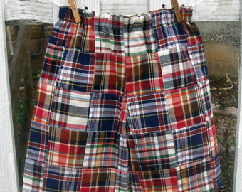 Preppy boys madras shorts for spring and summer fun!