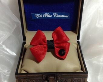 Mini Double Bow Tie Hair Clip