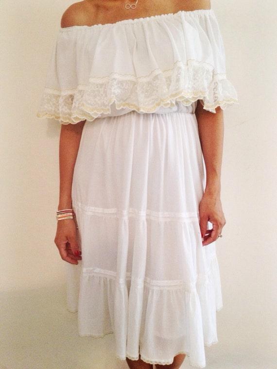 Ann es 70 robe des ann es 70 robe blanche robe de mari e - Robe de mariee annee 60 ...