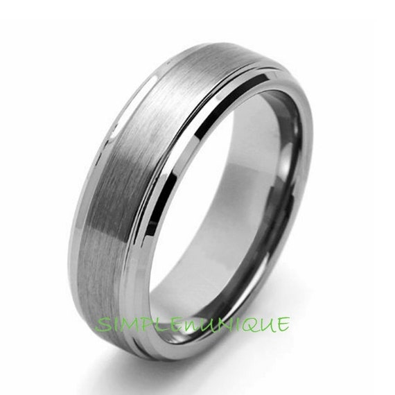 7mm mens promise ring tungsten s wedding band by