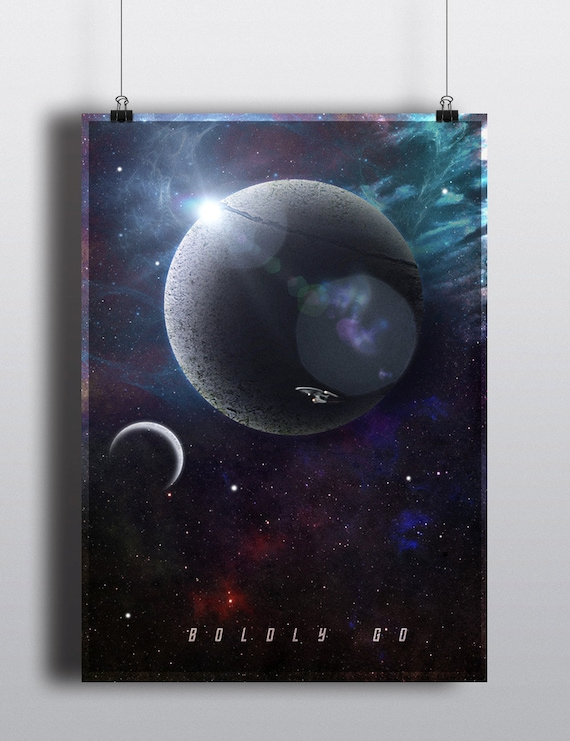 Star Trek Poster - Star Trek inspired 'Boldly Go' Print - Star Trek  Homewall Art Print
