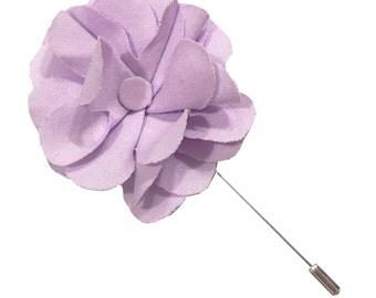 Lavender Lapel Flower Pin