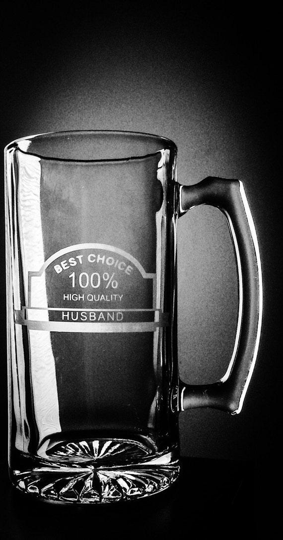 Valentines Day Gift For Him Glass Beer Mug