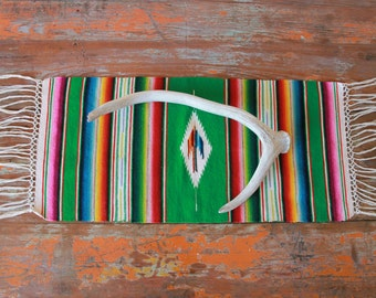 Vintage Mexican Serape Table Runner