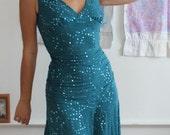 Betsey Johnson Dress Sequin Mermaid Nightclub Dress Size Small