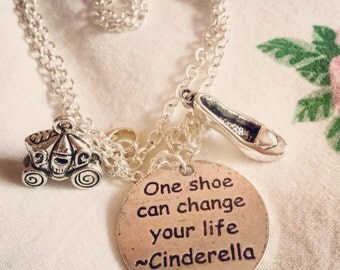 One shoe can change your life - Cinderella Necklace