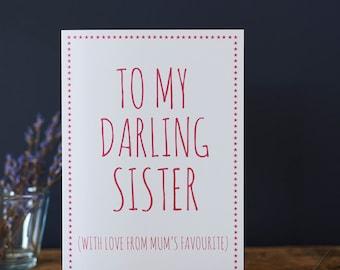Darling Sister card