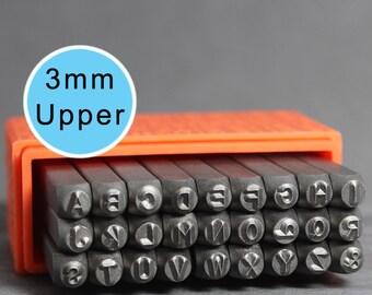 ImpressArt 3mm Uppercase Basic, Uppercase Letters, Basic Letters, ImpressArt Stamps, Metal Stamps, Uppercase Stamps, Metal Stamps, INV1023