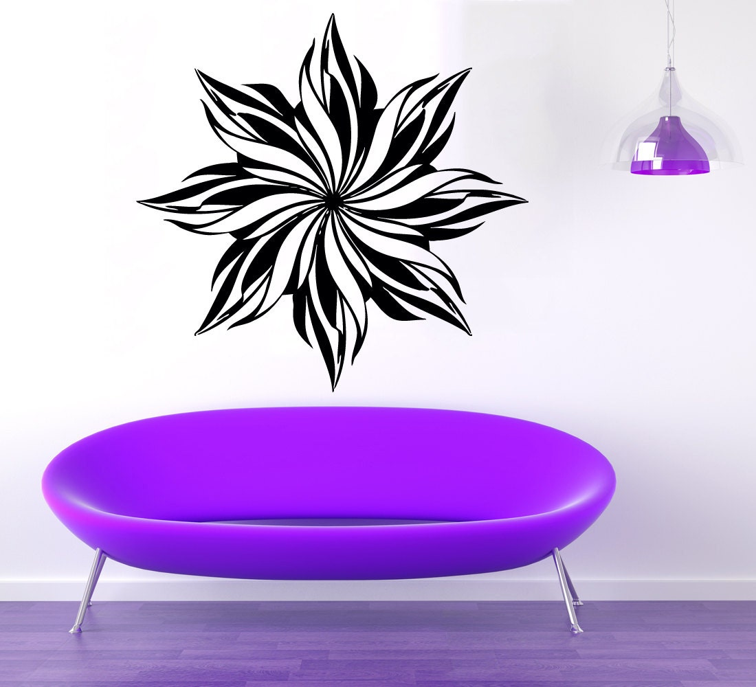 Wall Decals Flower Vinyl Decal Sticker by WallDecalswithLove