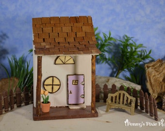 Miniature Fairy House, Wood Fairy House, Fairy House with Shingles