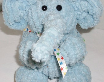Small Blue Chenille Elephant