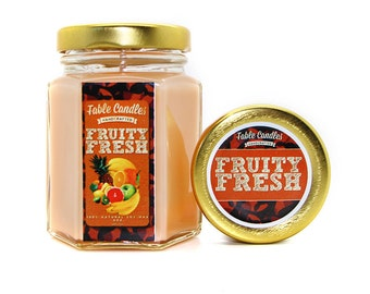 Fruity Fresh Scented Soy Candle | Handmade Scented Candle -- 4oz