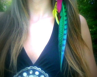 Rasta, Feather, Hair, Extension, Extensions, Bohemian, clip, Reggae, Rastafarian, bob, marley, one, love, red, green, yellow, hippie, hippy