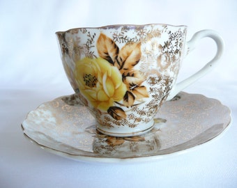 Vintage Yamaka China Tea Cup and Saucer - Made in Japan Tea Set