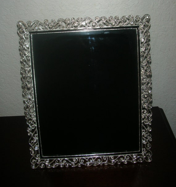 New Age Home Decor: 8x10 Jeweled Scrying Mirror Rectangle Gothic By