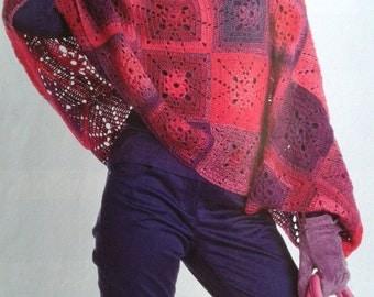 Handmade crochet poncho cardigan blazer tunic jumper women crochet clothes MADE TO ORDER