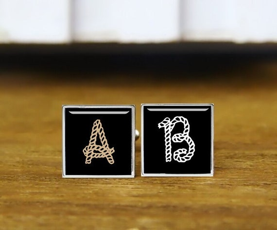 personalized cufflinks, monogrammed cufflinks, custom initials cufflinks, custom wedding cufflinks, round, square cufflinks, tie clips,  set