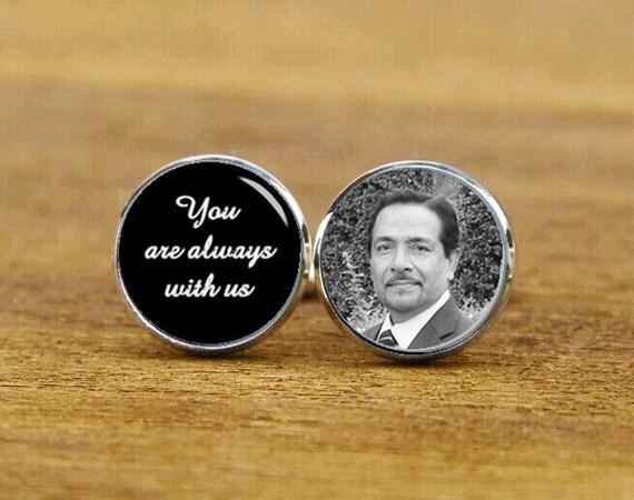 you are always with us cufflinks, personalized cufflinks, custom photo, date, groom cufflinks, round, square cufflinks, tie clips, or set