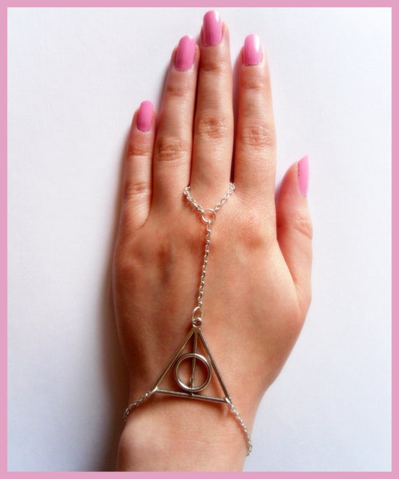 Deathly Hallows Bracelet, Hand Bracelet,Slave Bracelet, Harry Potter Jewellery, Fandom Jewellery, Geekery Jewellery
