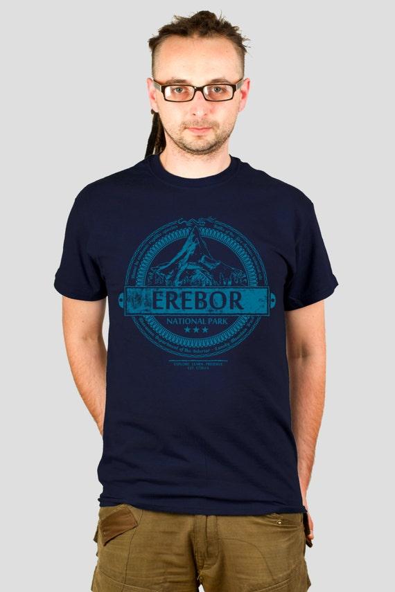 Erebor National Park - Tolkien / Hobbit inspired Men's t-shirt, screen printed by hand