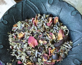 Lovely Herbal Mix, Witchcraft, Wicca, Witch, Herbs for Witches, Natural Herbs, Apothecary, Hand Blended Herbs, Herbs, Flowers, Spices