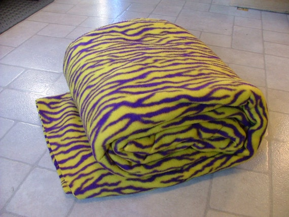 4 yards lsu inspired fleece fabric gold with by alluringknits for Fabric by the yard near me