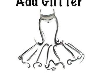 Add Glitter Add-on Upgrade for your tutu order