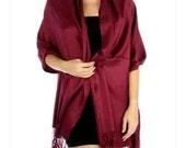 Wine Pashmina scarves - Wine color - wedding scarves - bridesmaids pashmina - party favors