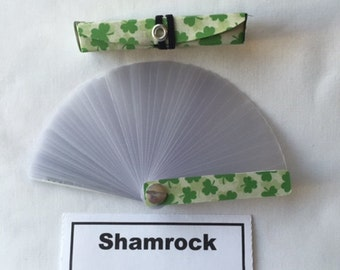 "Nail Polish Swatches, Easy-to-Change, Portable, Sortable - Shamrock -  Size 3 1/4"" x 7/8"" x 5/8"""