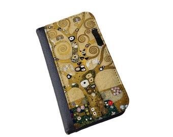 gustav klimt tree of life iphone 8 wallet case samsung galaxy s6 edge note 4 note