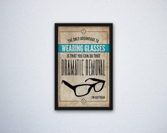 Jim Gaffigan Inspired Poster - Glasses