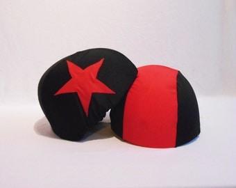 Reversible Helmet Panties Covers Roller Derby Plain Lycra - Set of 1 Pivot / 1 Jammer