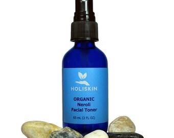 Neroli Face Toner - Organic Toner - Facial Toner for Oily Skin - Orange Blossom Water Organic Skin Care Cruelty Free Vegan Holistic 2 fl oz
