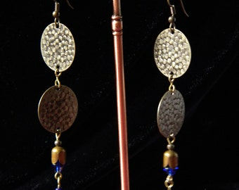 A Touch Of Blue Dangle Earrings