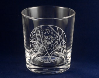 Doctor who - Chameleon Arch. Hand Engraved Glass Tumbler