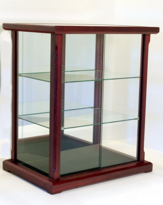 Glass Display Cabinet Showcases: Wood And Glass Display Case For Dolls Models Crystal