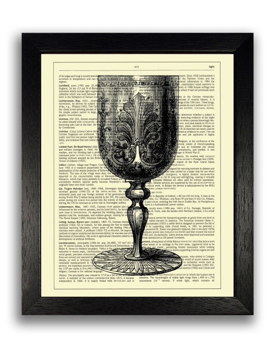 Wall Decor Wine Glasses : Vintage wine glass wall decor print illustration