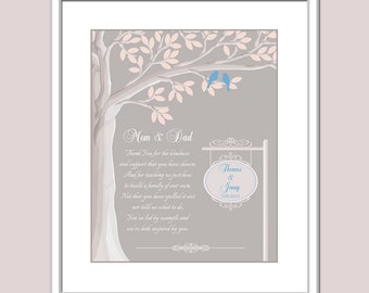 Gift For Parents for Wedding - Parents Thank You Gift - Wedding Day Gift For Mom And Dad - Parents Thank You Gift - Parents In Law Gift