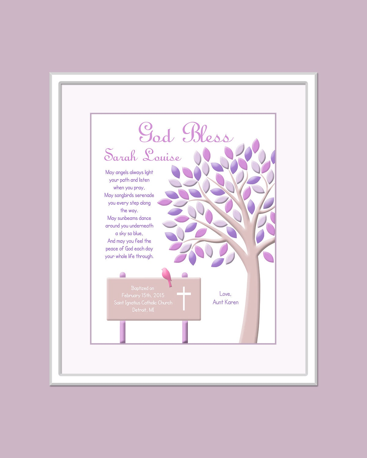 Baby Gifts For Catholic Baptism : Christening gift for girls baptism baby by