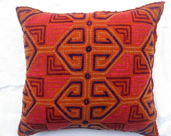 Vintage Hand Embroidered Pillow Cover #19