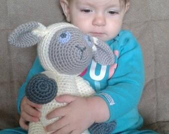 crochet lamb plush toy