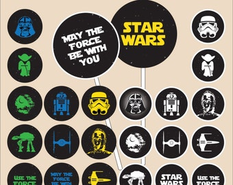 Star Wars Cupcake Topper - instant download