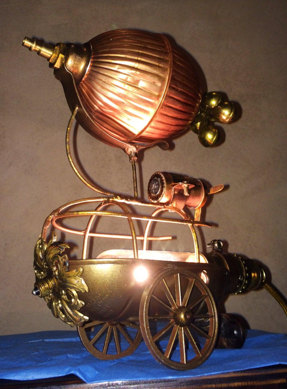 Steampunk Airship Lamp Ooak