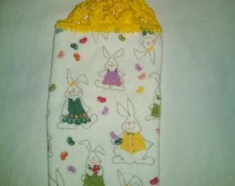 Easter Bunnies Kitchen Hanging Towel